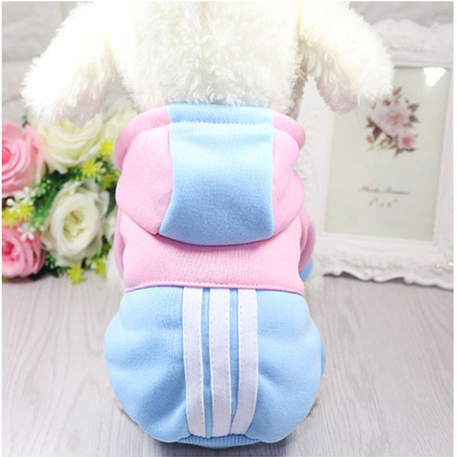 Pet Soft Winter Warm Pet Dog Clothes Sports Hoodies For Small Dogs Chihuahua Pug French Bulldog Clothing Puppy Dog Coat Jacket 4