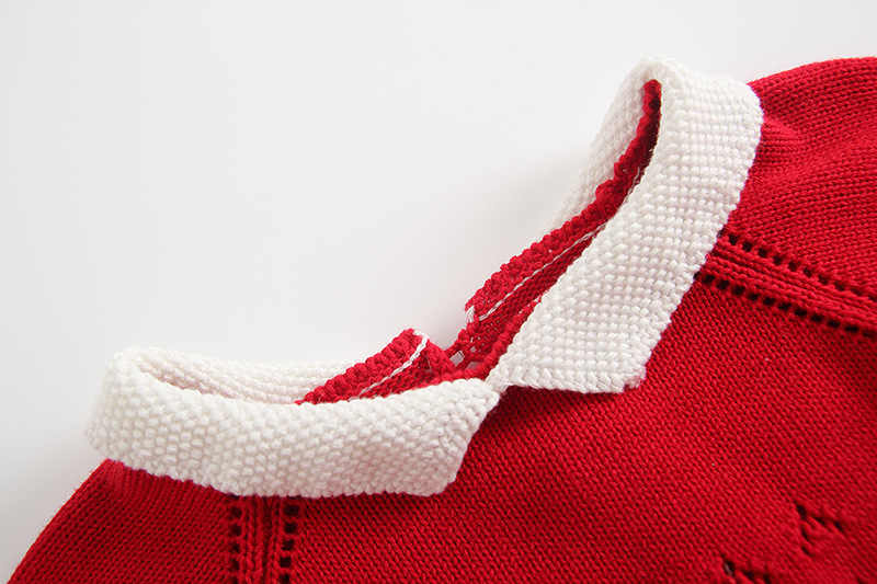 От 6 месяцев до 3 лет для маленьких девочек свитер с длинными рукавами комбинезон зимы Bebes милые зимние утепленные ползунки комплект одежды