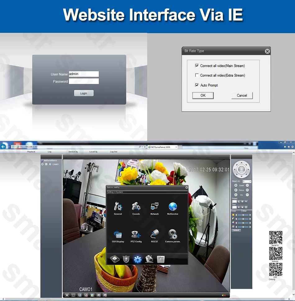 3-Website Interface Via IE