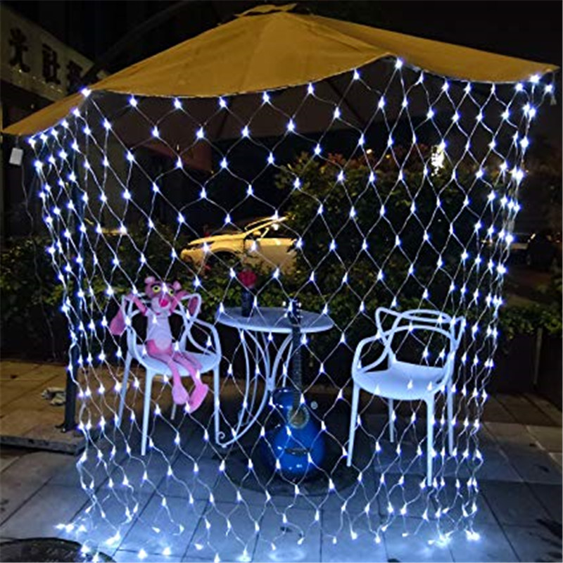 LED Garland Mesh 1.5x1.5m 96LED Starry Light String Outdoor Waterproof Christmas Holiday Decoration Wedding Party Network Light