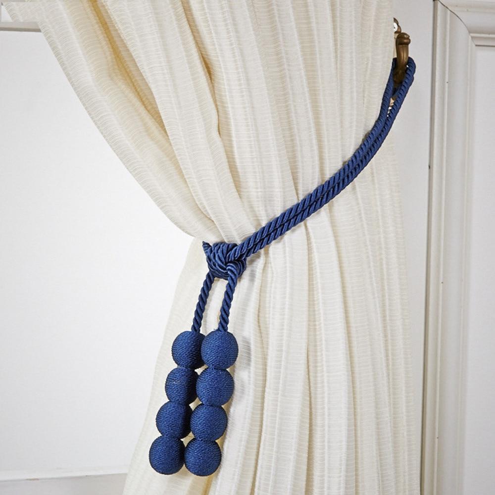 2PC Rope Window Curtain Tiebacks Tassel Binding Rope Tie