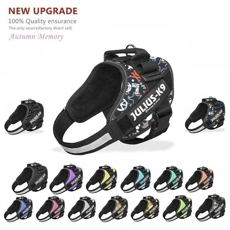 New Dog Harness Vest For Small Large Big JULIUS K9 Harness Grow Training Pet Safety Cat Waterproof Nylon Arneses