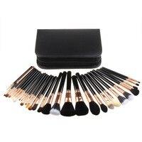 BBL 29pcs+Case Professional Makeup Brushes Set Import Top High Grade Wool Made Powder Foundation Brush Kit Eyeshadow Applicator