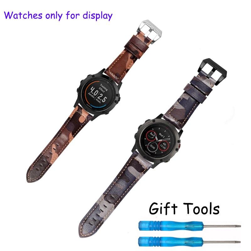 buy for garmin fenix 5 5x wristbands 22mm 26mm sheepskin leather watch band. Black Bedroom Furniture Sets. Home Design Ideas