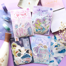 45Pcs/pack Japanese Kawaii Cartoon Sticker Scrapbooking Cute Alice DIY Journal Decorative Adhesive Label Creative Stationery