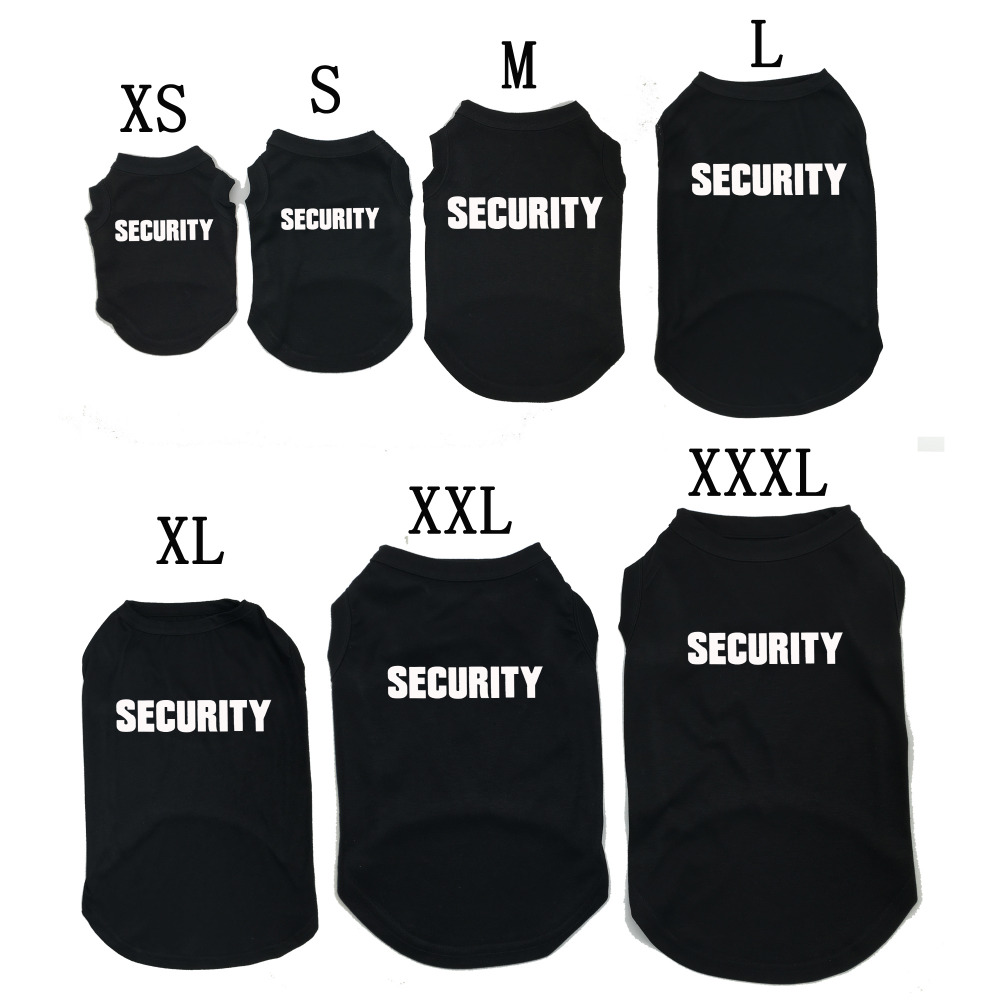 Inexpensive clothing SECURITY Printed T-Shirts Pet Puppy Clothes Shirts Tee Polyester Tank Tees Top for All Seasons Hot sale