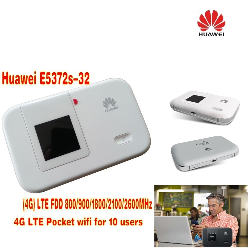 unlocked HUAWEI E5372 E5372s-32 4G 150Mbps LTE Cat4 Pocket wifi router  Mobile mifi dongle Hotspot Router pk e5776 e589 e5375