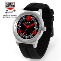 2017 New Arrived Europe Hot Sales Fashion Racing Brand GT WATCH High Quality Men Women Silicone