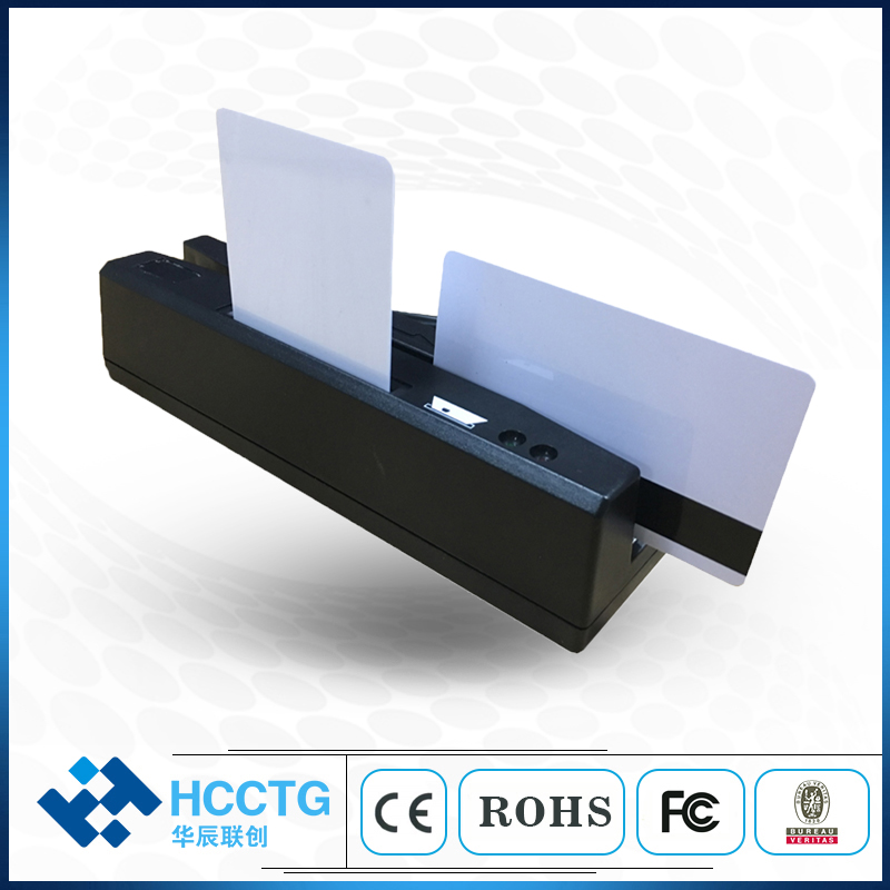 Lecteur de carte Rfid magnétique USB tout en un 1/2/3 pour puce MSR & IC et carte Psam HCC-110 - 2