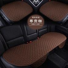 1 conjunto de assento de carro almofada assento estilo do carro respirável de refrigeração almofada do carro capa de assento de linho tecido capa de assento de carro