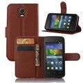 Pu capa de couro case para huawei y3 y360 y336 flip do telefone móvel de proteção shell voltar tampa da pele com slot para