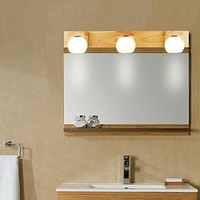 Oak Modern Led Bathroom Mirror Light With 3 Lights ,LED Wall Lamp Wall Sconces Free Shipping