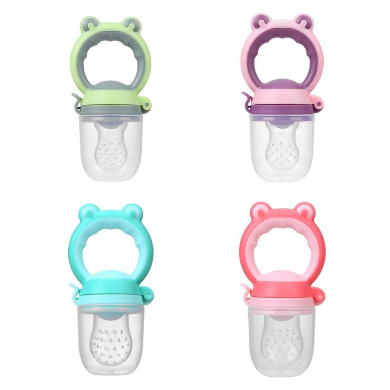 Newborn Baby Feeder Nipple Pacifier Animal Head Fresh Fruit Vegetable Food Nutrition Bite Juice Supplies Infant Nipple Teat Tool