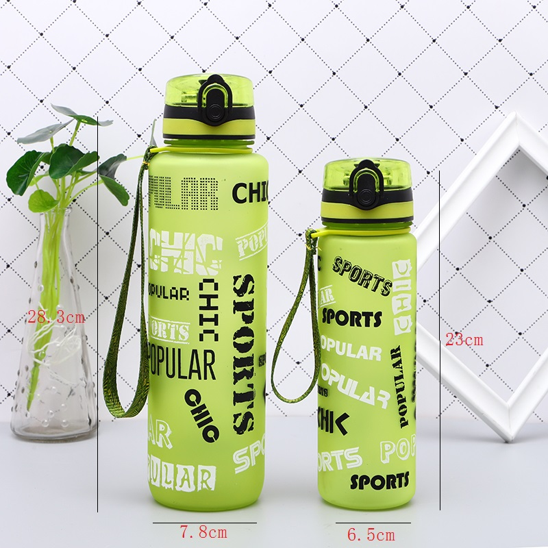 New Portable Plastic BPA Free Leak Proof My Sports Kids Water Bottle 600 1000Ml Tour Hiking Insulated Tea Cup Bottles For Summer in Water Bottles from Home Garden