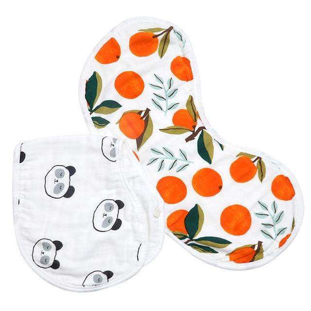 Muslin Life Wholesale Burp Bib Muslin Soft Breathable 6 Layers Cute Cartoon Pattern Multi-Use Burp Cloth And Bib