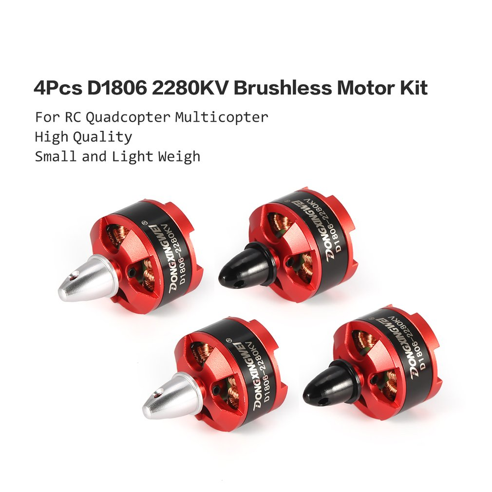VIDOO Racing Edition 1806 Br1806 2280Kv 1-3S Brushless Motor CW//CCW pour 250 260 pour Rc Drone FPV Racing-CW