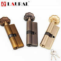 Gold Familiar Strands Commercial Core Interior Door Lock Cylinder Masses 70 MM Trees Crossroads Chains Head Brass