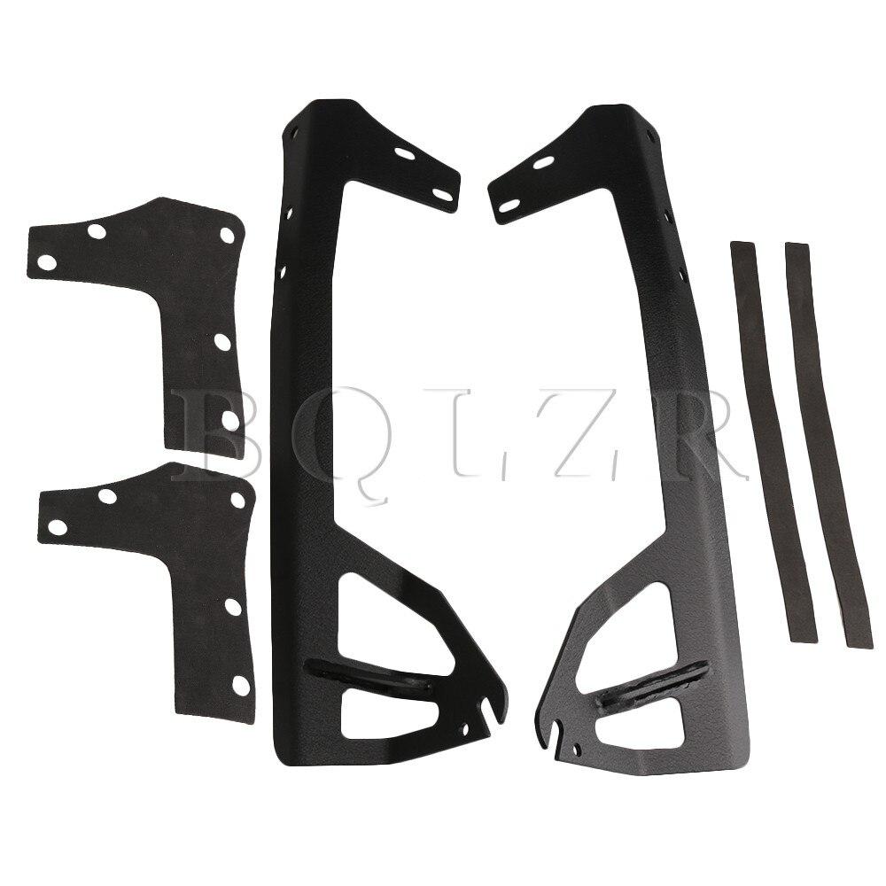 BQLZR Black Iron 52 inch LED Light Bar Windshield Top Mounting Bracket For Jeep Wrangler JK Pack of 2 51 inch 52 inch led light bar windshield steel mount bracket mounting brackets for jeep wrangler jk 2007 2015 car styling