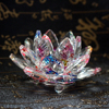 Fengshui K9 Crystal Lotus Flower Paperweight for Wedding Favor Home Decoration Holiday Gifts 2