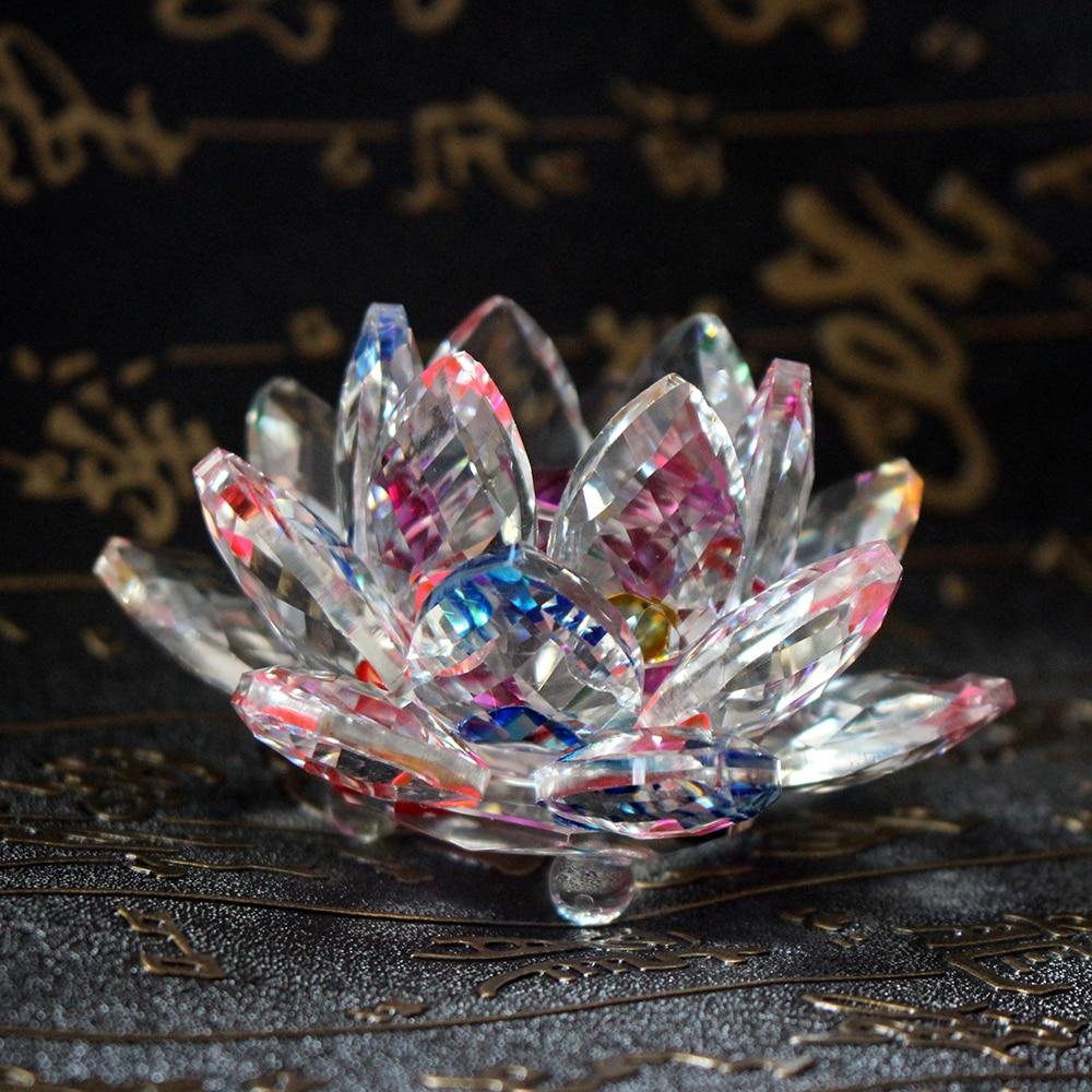 Fengshui K9 Crystal Lotus Flower Paperweight Үйлену - Үйдің декоры - фото 2