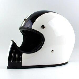 Image 3 - Ttの共同トンプソンmoto rcycleヘルメットフルフェイスcasqueヴィンテージヘルメットチョッパーゴーストライダーレトロヘルメットcasco moto
