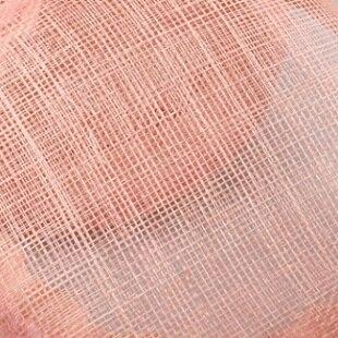 Шляпки из соломки синамей с вуалеткой перья, модные аксессуары для волос популярный свадебный Шляпы очень хороший Новое поступление несколько цветов - Цвет: Розовый
