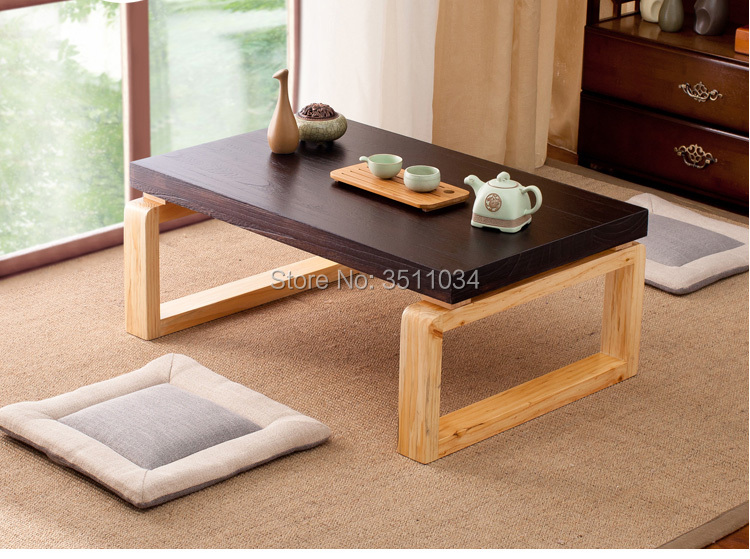 New Item Asian Antique Style Vintage Wooden Table Foldable Legs