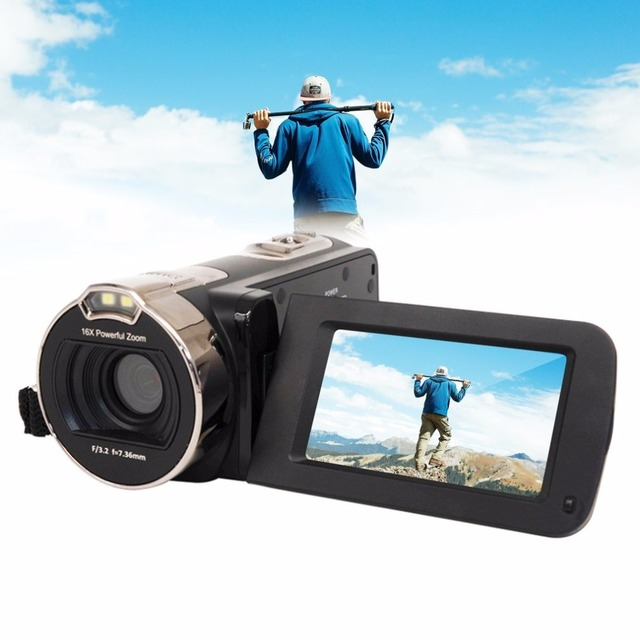 "2.7 Inch Rotation Screen Full HD 1080P Digital Video Camera 2.7"" LCD Screen 16X Digital Zoom 24MP Portable Home Use Camcorder"