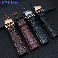 The high quality Alligator leather watchband 12 24mm watch strap handmade watch strap luxe style Watch accessories