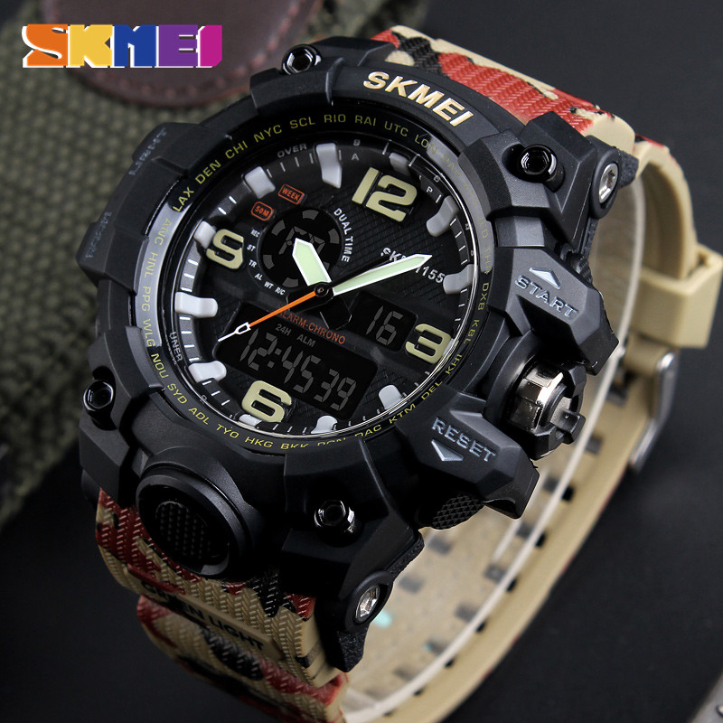 Military Watch Men Sport Army Mens Watches Top Brand Luxury Clock Digital Quartz Waterproof Relogio Masculino Camouflage Watches geneva watches men 2017 binger fashion brand quartz clock army military sport watch digital wristwatches relogio masculino