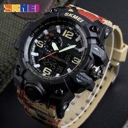 Reloj militar Hombre Deporte ejército hombres relojes marca superior reloj de lujo Digital cuarzo impermeable reloj Masculino relojes de camuflaje