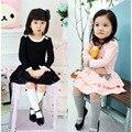 Новый 2016 весна осень девочка одежды дети с длинными рукавами свободного покроя девушки туту платье мини детская одежда для Brithday подарков