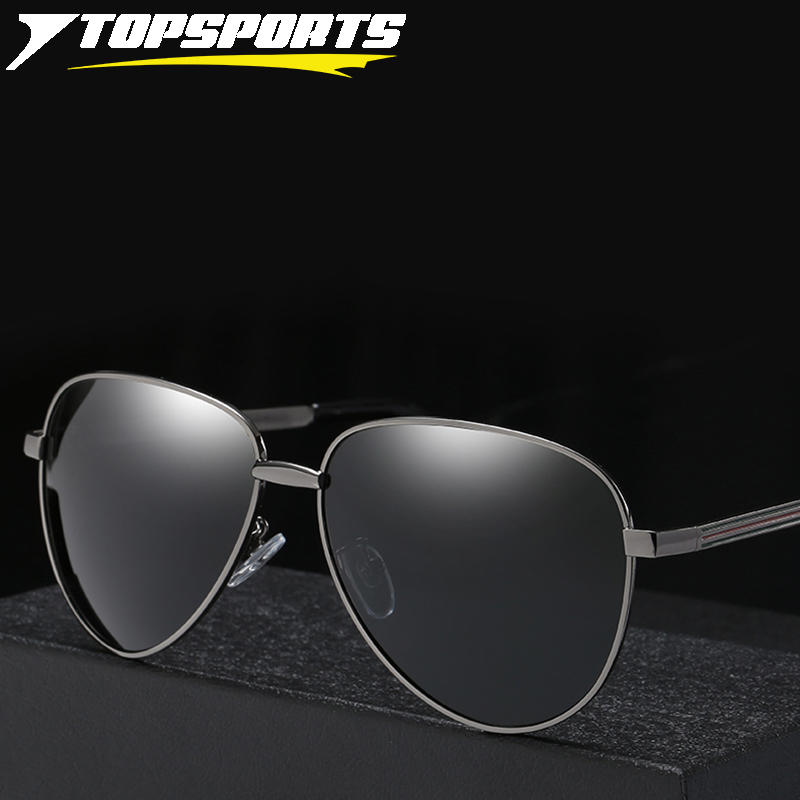 TOPSPORTS Polarized Sunglasses Toad Women Men Aluminum Frame UV400 TAC Mirror Lens Driving Fishing Glasses Classical Spectacles