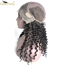 Baby Hair and Pre Plucking Remy lace front human hair wigs Ross Pretty Brazilian Deep Wave Human Wigs Density 150%