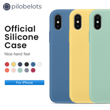 NEW upgrade Official Original Liquid silicone case For iphone X 6 6s 7 8 Plus coque For iphone xs max XR case Simple Solid Color new original projector color wheel for dell 1610hd 6 color