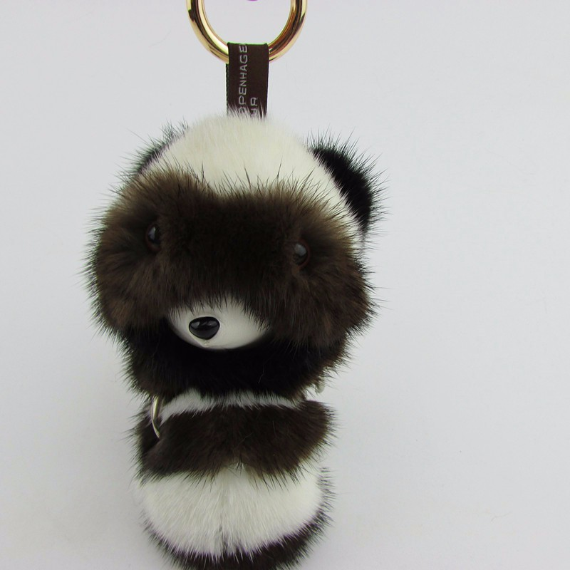 100% real mink fur small koala keychain bag pendant car ornaments mink fur accessories недорго, оригинальная цена
