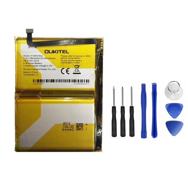 Hekiy 10000 mAh cho Oukitel K10000 MAX Pin Thay Thế Pin Bateria Cho Oukitel K10000 MAX Thông Minh Điện Thoại + Dụng Cụ