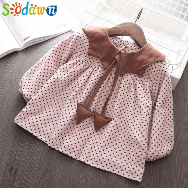 1d07490c9b72d Sodawn Girls Clothes Plus Velvet Thick Dot Doll Baby Girls Dress Autumn  Winter Lapel Children Dress 1-5Y Cute Christmas clothes