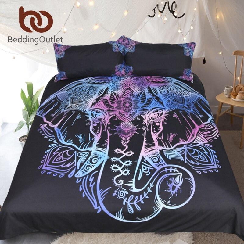 Beddingoutlet Böhmischen Elefanten Bettwäsche Set Queen Size