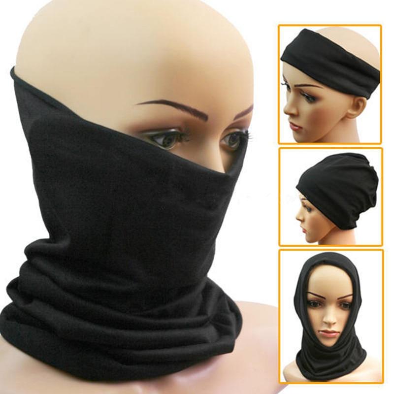 3 In 1 Multifunctional Unisex Men Women Neck Warmer Winter Thermal Warm Snood Ski Scarf Hat Beanie Balaclava Face Mask Black
