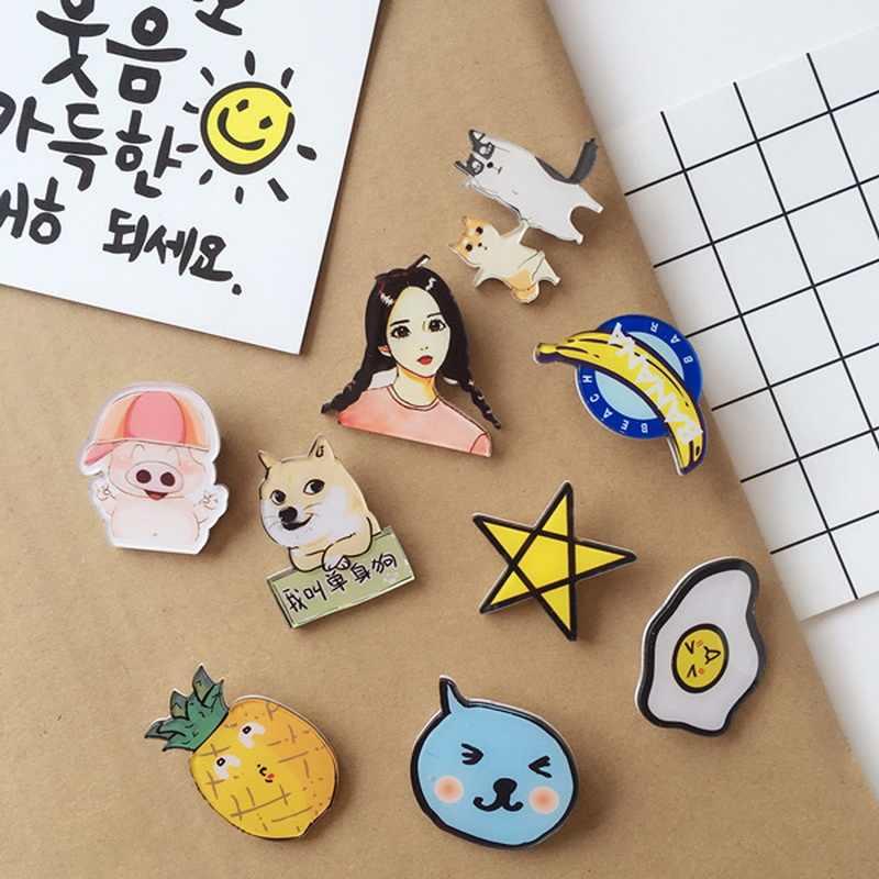 Di modo Kawaii Anime Multi Vestiti di Stile Acrilico Distintivi e Simboli Spilli Per I Vestiti Icona Decorazione Distintivo Zaino Spille Pulsante