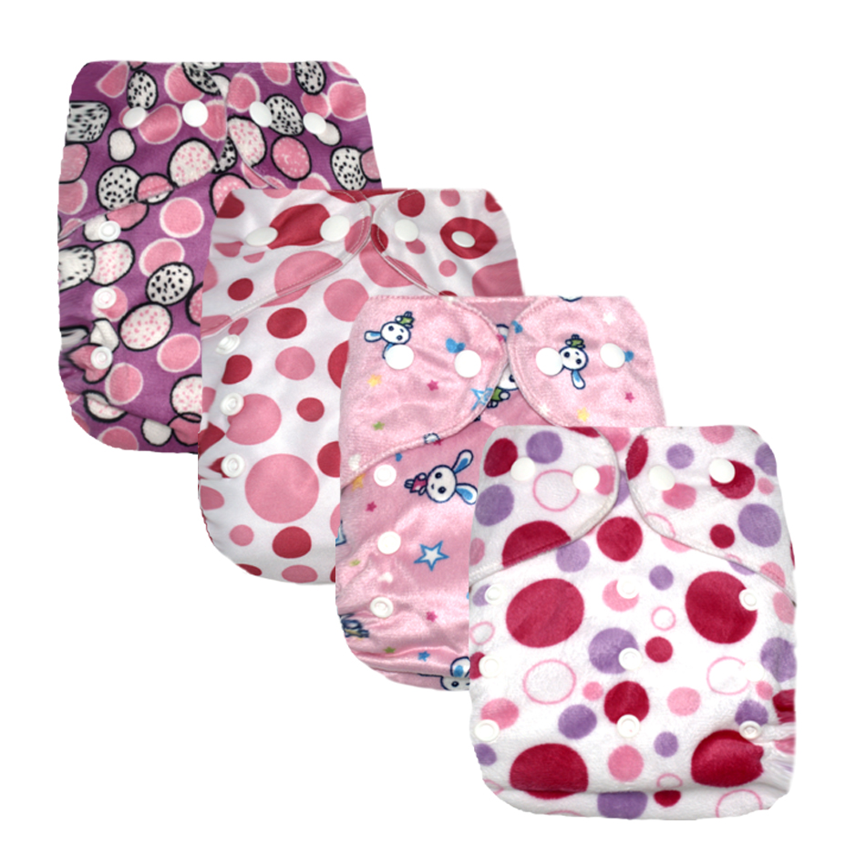 Miababy Washable Cloth Diaper Adjustable Nappy Reusable Cloth Diapers Available 0-2years 3-15kg Baby