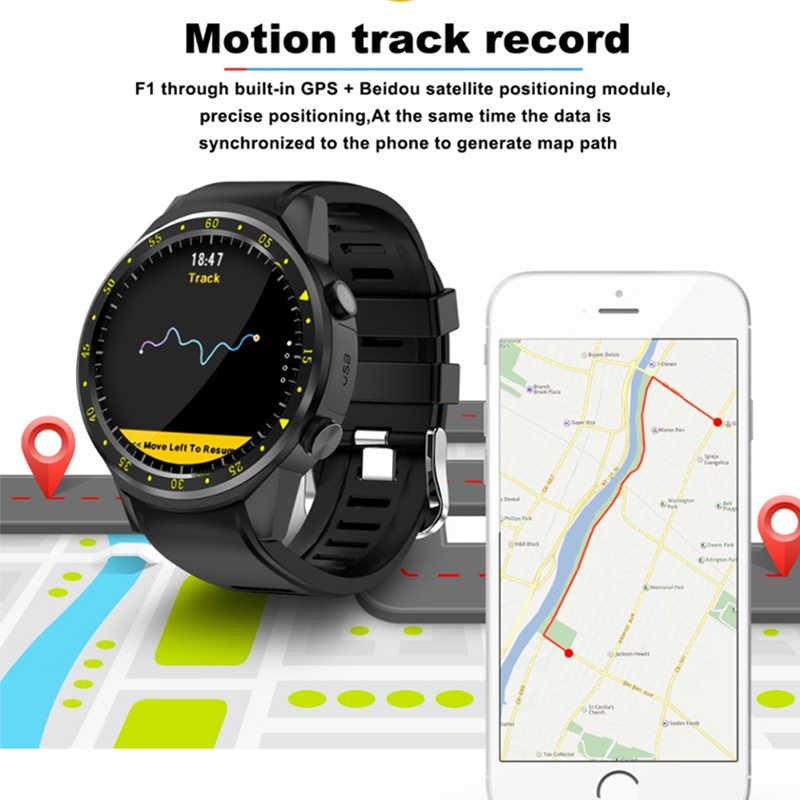GPS Smart Watch Men Bluetooth Sport Smartwatch Camera Heart Rate Monitor with SIM Card Camera Wristwatch for Android IOS Phone
