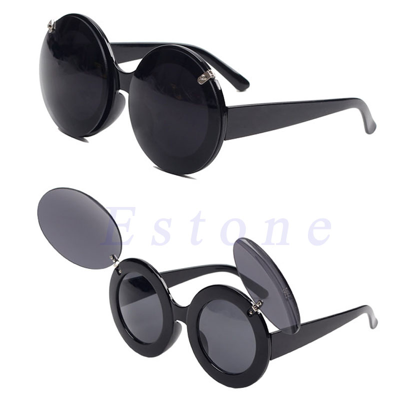 fafaacc2eed Fashion Trend Retro Style Mouse Flip Up Round Shade Sunglasses-in Sunglasses  from Apparel Accessories on Aliexpress.com