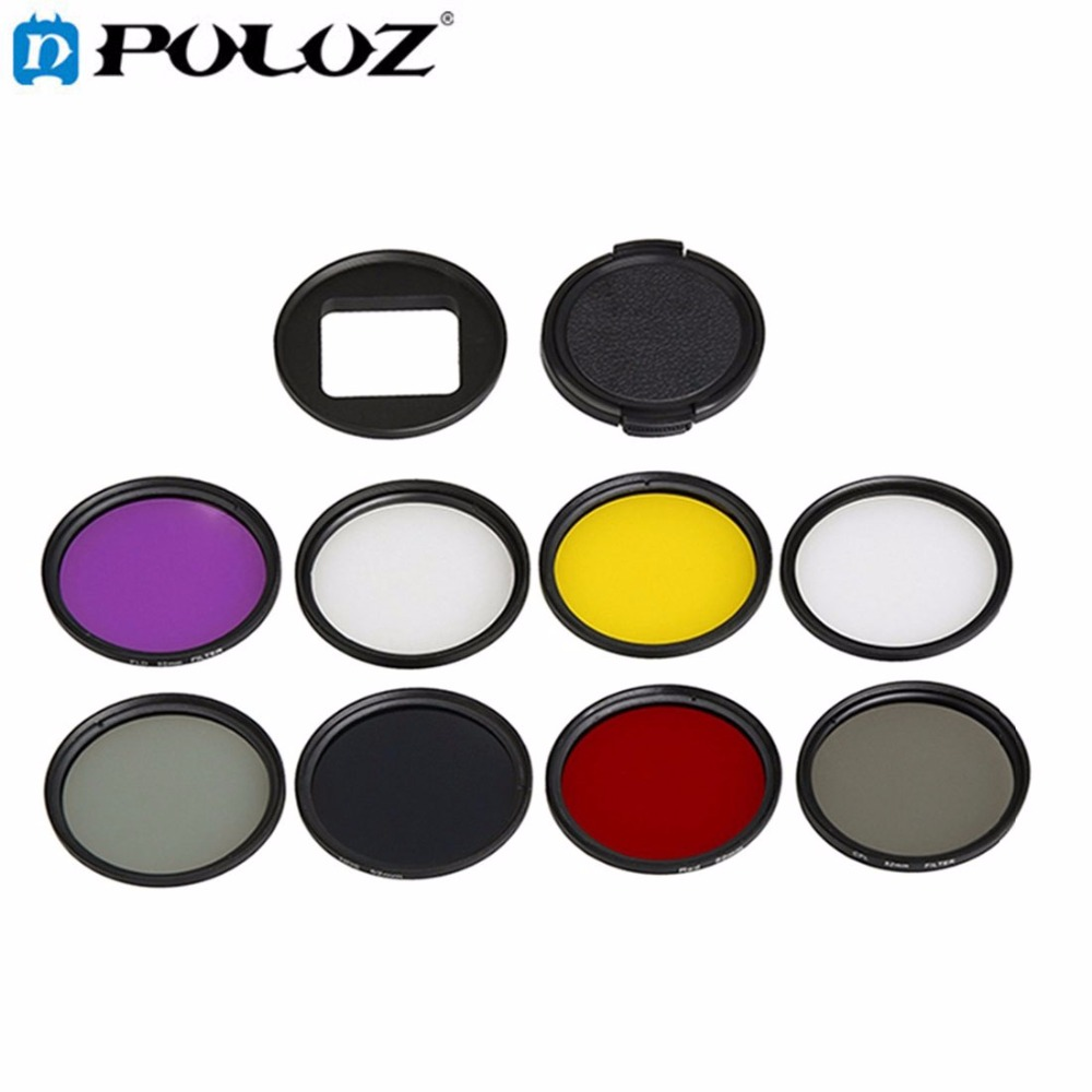 Accessories For GoPro HERO5 HERO 5 52mm Lens Filter CPL UV ND8 ND2 Star 8 Red