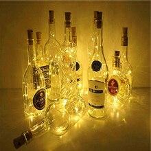 2 м 20 светодиодный аккумулятор силовая бутылка светильник s светодиодный в форме пробки струнный светильник s для бистро бутылка вина звездный бар вечерние валентинки ночной Светильник