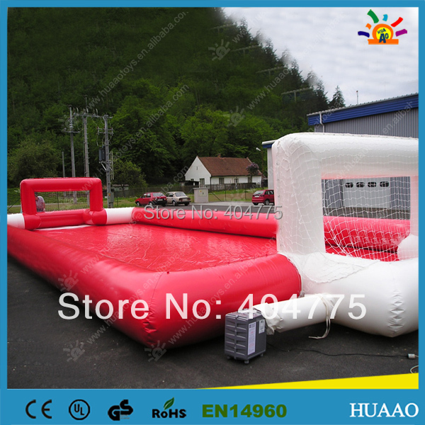 free shipping inflatable football pitch