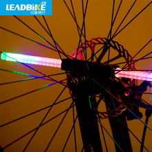 Leadbike New 64 LED more Patterns Bicycle Wheel Light Colorful Cycling Flashing Spoke Lamp free shipping