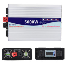 Intelligent Screen Pure Sine Wave Power Inverter DC12V DC24V to AC220V 3000W-6000W  Converter With LCD Display