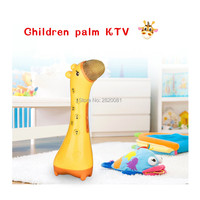 Children Palm KTV Handheld Electronic Microphone Deer Model Wireless Bluetooth Singing Toys For Kid Early Education